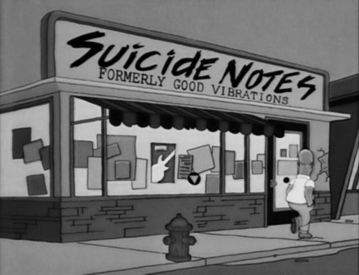 Funny Signs From The Simpsons