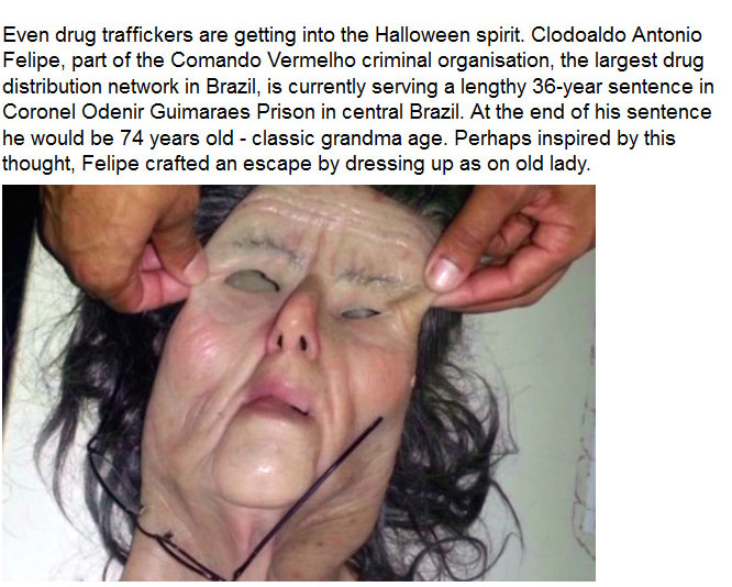Drug Trafficker Disguises Himself As An Old Lady And Attempts A Prison Break