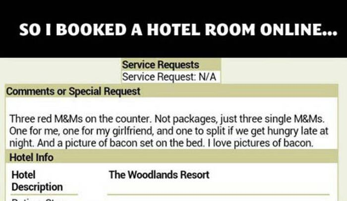 Hotel Staff Goes Out Of Their Way To Fulfill A Guest's Strange Requests