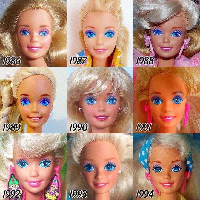 See The Evolution Of Barbie Over The Years