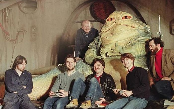 Behind The Scenes Photos Show How Jabba The Hut Was Brought To Life