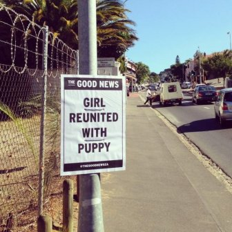 This Artist Is Trying To Make People Smile By Delivering Good News