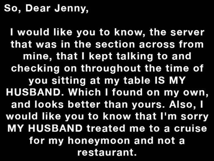 Waitress Has The Perfect Response For A Woman Who Left Her A Rude Note