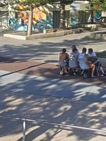 People Are Using Motorized Picnic Tables To Travel Through Western Australia
