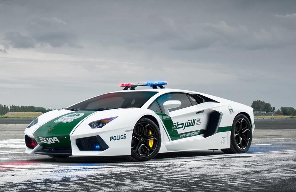 Super cars of Dubai Police