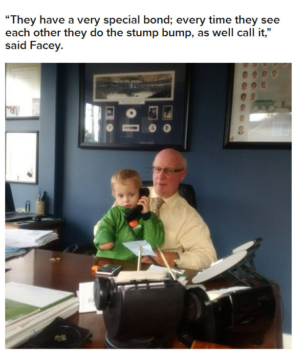 It Was So Cute When This Adopted Boy Met His New Grandpa For The First Time