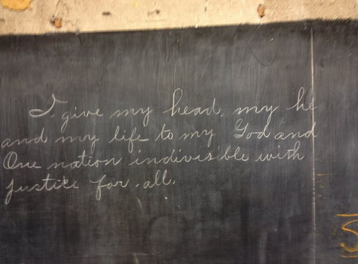 Teachers Find 100 Year Old Writing On An Oklahoma City Blackboard