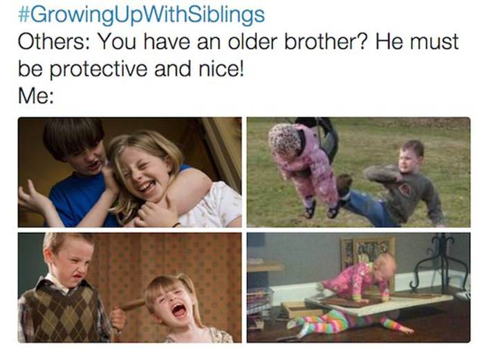 Life Is Tough When You Grow Up With Siblings