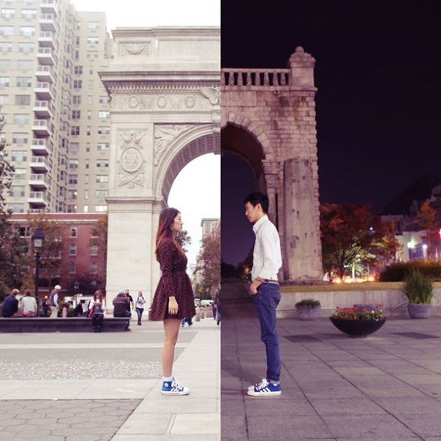 Long Distance Couple Keeps It Real By Creating Combo Pictures
