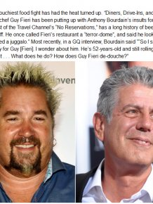 The Feud Between Guy Fieri And Anthony Bourdain Continues To Heat Up