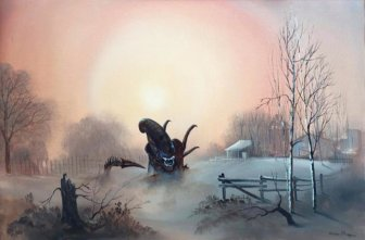 Artist Adds Awesome Pop Culture References To Thrift Store Paintings