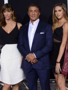 Sylvester Stallone Shows Off His Beautiful Family At The Creed Premiere