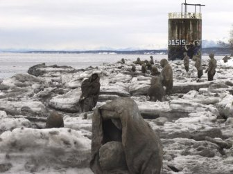 Find Out Why These Creepy Sculptures Have Appeared On A Beach In Alaska