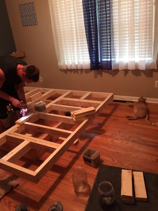 floating bed frame plans images