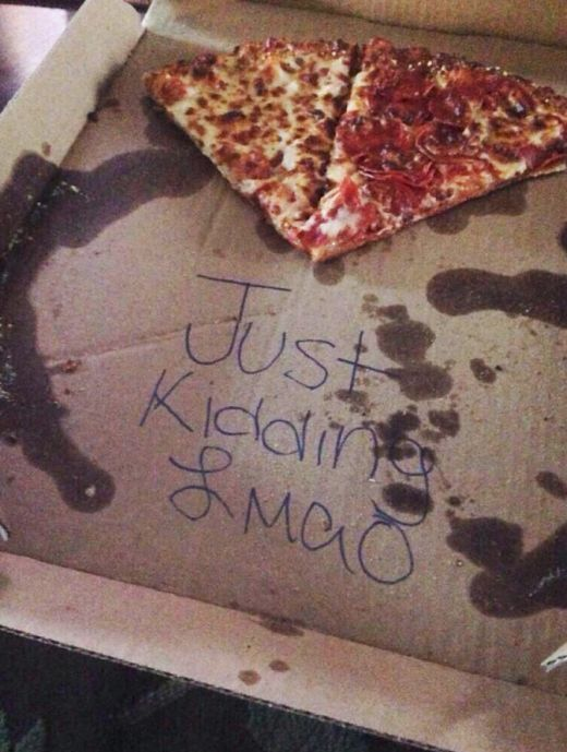 Prankster Uses Pizza To Troll An Innocent Girl