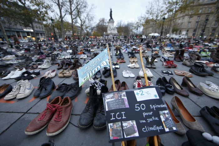 Paris Uses Shoes To Protest