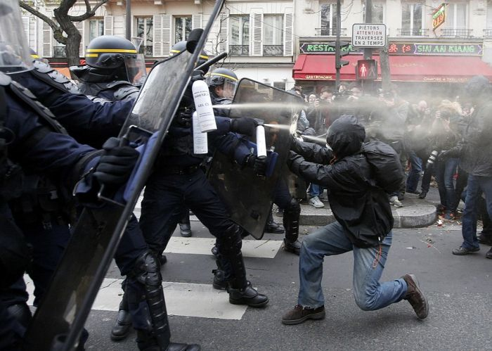 Paris Uses Shoes To Protest
