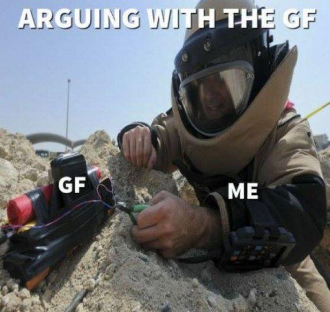 having a girlfriend
