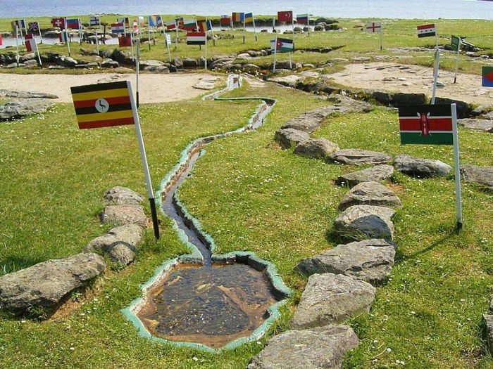 There's A Miniature Map Of The World On This Danish Lake