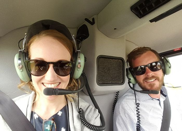Australian Man Surprises Girlfriend With A Helicopter Ride And Marriage Proposal