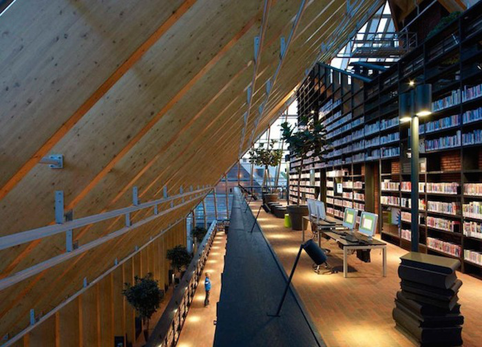The Netherlands Has A Libary That's Like A Giant Mountain Of Books
