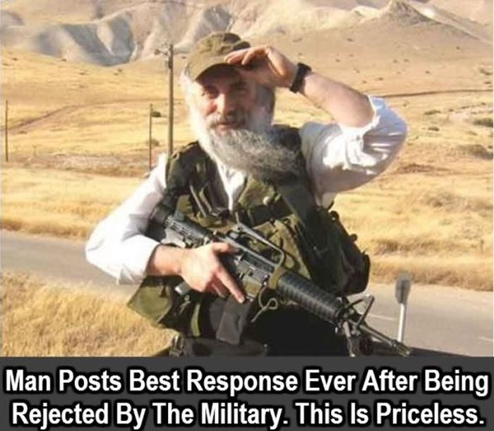 Man Has An Awesome Response After He's Rejected By The Military