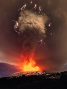 Mount Etna Shoots Lava 1KM Up During Massive Eruption