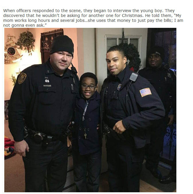 Two Police Officers Stepped Up When This Young Boy's Xbox Got Stolen
