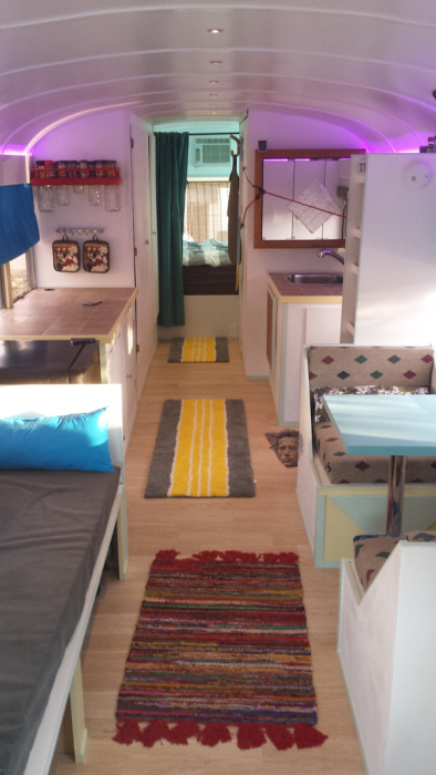 A Few Friends Turned This Old Bus Into A Bachelor Pad On Wheels