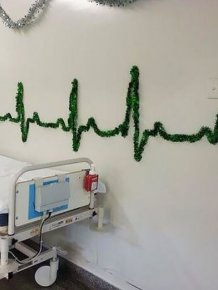 These Hospital Workers Came Up With Some Very Creative Christmas Decorations