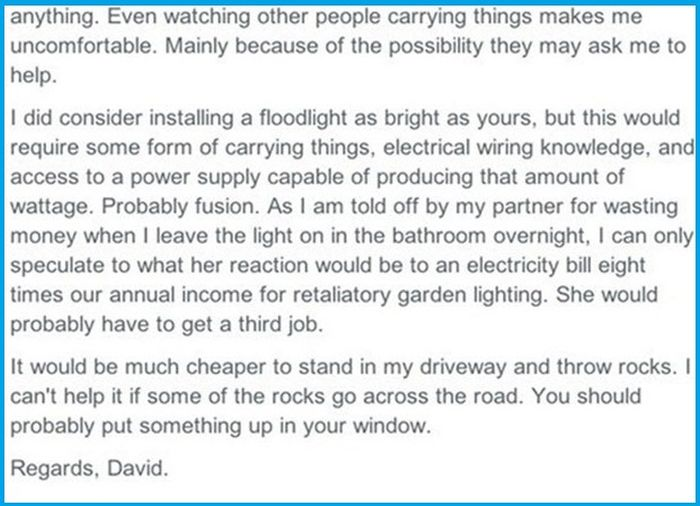 These Neighbors Can't Stop Fighting Over A Flood Light