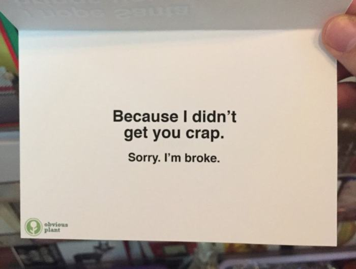 This Guy Left Honest Christmas Cards At A Local Gift Shop