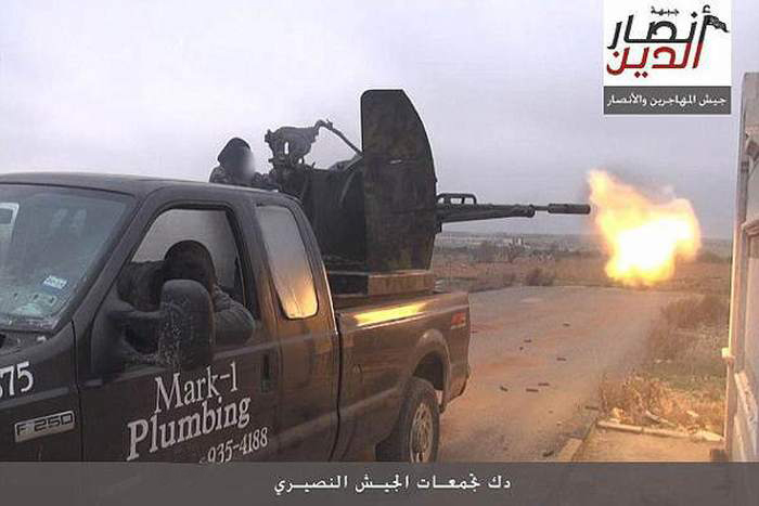 Somehow This Plumber's Pick Up Truck Ended Up On The Front Lines Of Syria