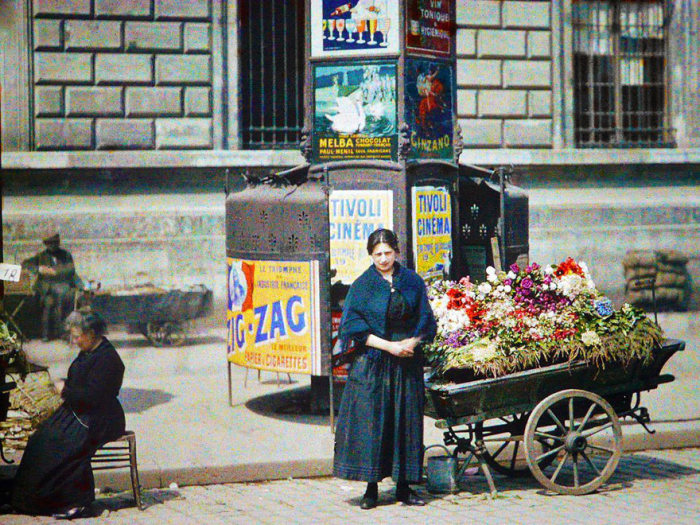 These Vintage Color Photos Of Paris Were Taken 100 Years Ago