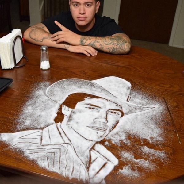 Rob Ferrel Makes Amazing Celebrity Portraits Out Of Salt