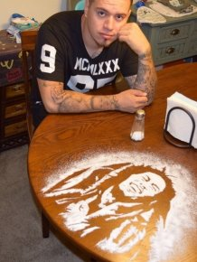 Rob Ferrel Makes Amazing Celebrity Portraits Out Of Salt