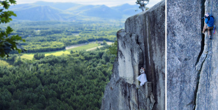 Couple Takes Extreme Wedding Photos On The Edge Of A Cliff