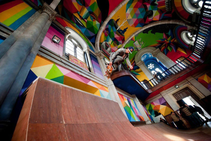 100 Year Old Church In Spain Gets Converted Into A Skate Park