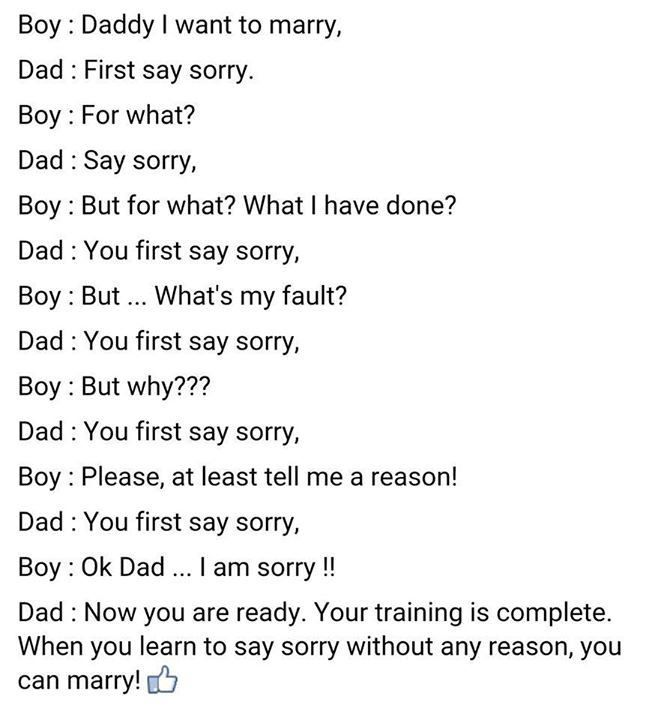 Dad Teaches Son An Important Lesson About Marriage