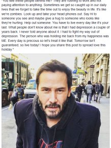 Keanu Reeves Drops Some Serious Wisdom On The World