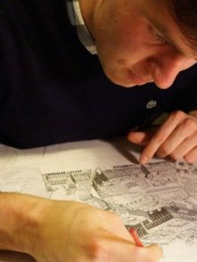 Artist Uses His Incredible Memory To Draw Detailed Cityscapes