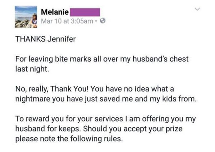 Wife Writes Brutal Letter To Her Cheating Husband's Mistress