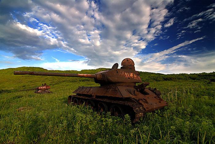 Abandoned Army Tanks That Have Become A Part Of Nature