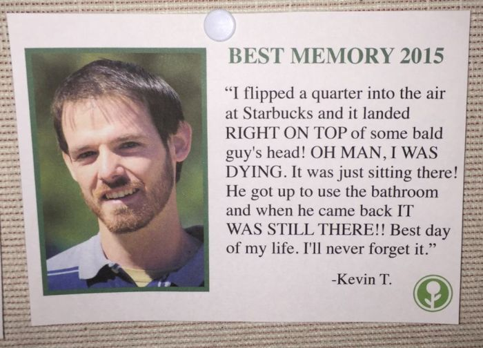 Someone Put Fake Best Memories Of 2015 On A Community Bulletin Board