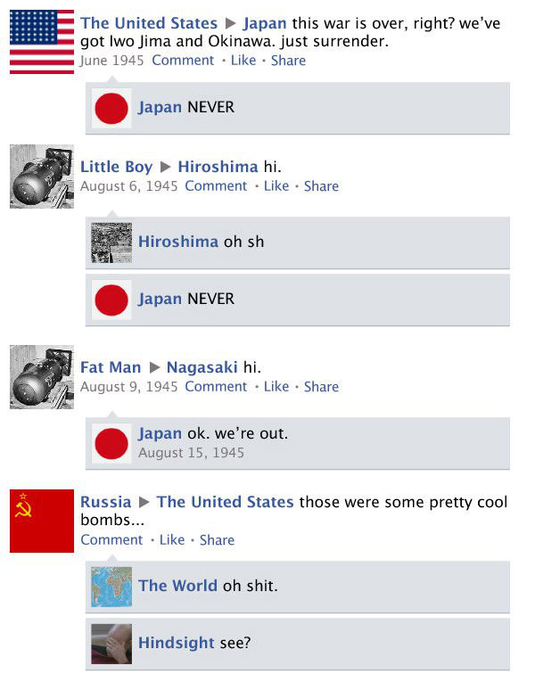 What Facebook Would Look Like If Social Media Was Around During World War II