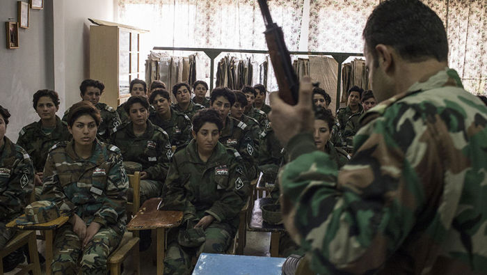 Women Of Syria Train To Defend Their Home