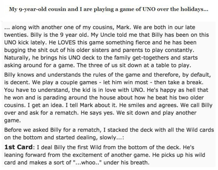 The Funniest Story In The History Of The Card Game Uno