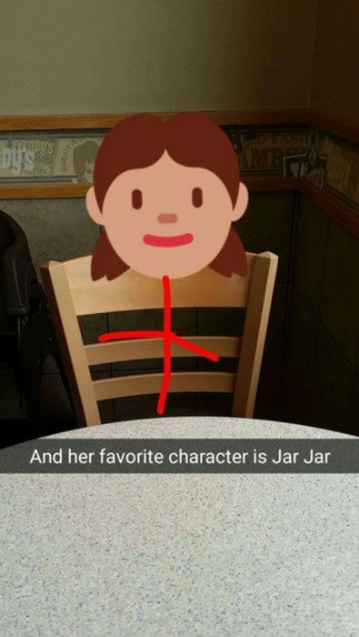 Dude Creates Epic Snapchats As He Takes His Imaginary Date To See Star Wars