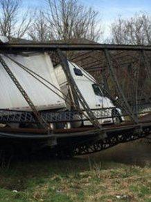 Woman Destroys Bridge With An Overweight Truck