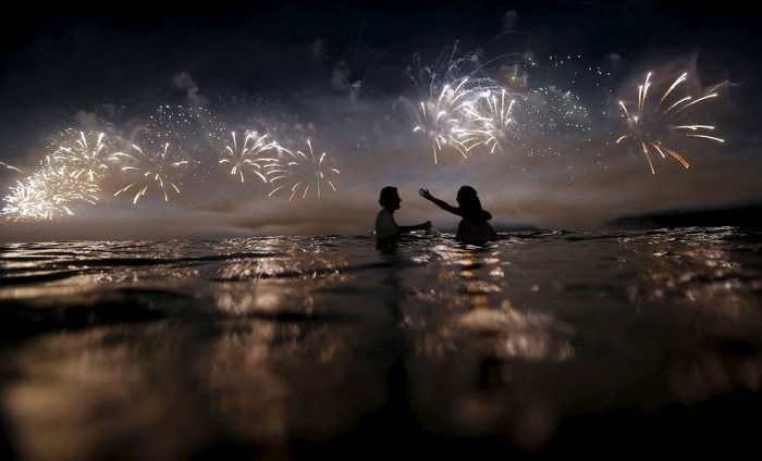 The 2015 New Year's Eve Celebrations On Copacabana Beach In Brazil
